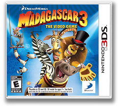 Madagascar 3 - The Video Game 3DS cover (AMCE)