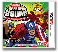 Marvel Super Hero Squad - The Infinity Gauntlet 3DS cover (AMSE)