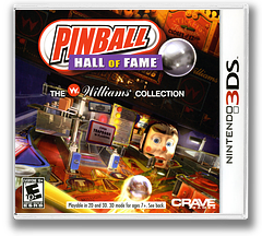 Pinball Hall of Fame - The Williams' Collection 3DS cover (APBE)