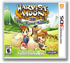 Harvest Moon 3D - The Lost Valley 3DS cover (AVME)