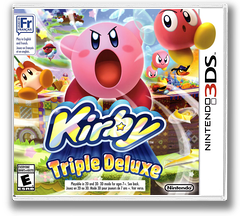 Kirby - Triple Deluxe 3DS cover (BALE)