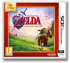 The Legend of Zelda - Ocarina of Time 3D pochette 3DS (AQEP)