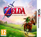 The Legend of Zelda - Ocarina of Time 3D 3DS cover (AQEP)