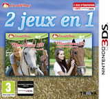 2 in 1 - Horses 3D Vol. 2 - Rivals in the Saddle and Jumping for the Team 3D 3DS cover (BMRP)