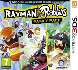 Rayman and Rabbids Family Pack 3DS cover (BRRP)