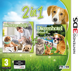 2 in 1 - My Vet Practice 3D - In the Country + My Baby Pet Hotel 3D 3DS cover (BELP)