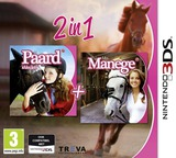 2 in 1 - Horses 3D - My Foal 3D + My Riding Stables 3D - Rivals in the Saddle 3DS cover (BMFP)