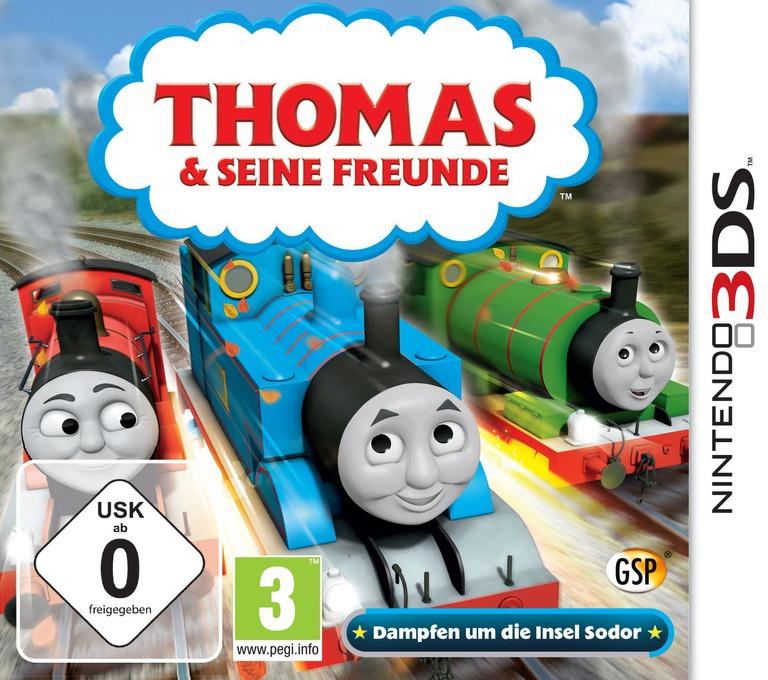 Thomas & Seine Freunde - Dampfen um die Insel Sodor 3DS coverHQ (BTBP)