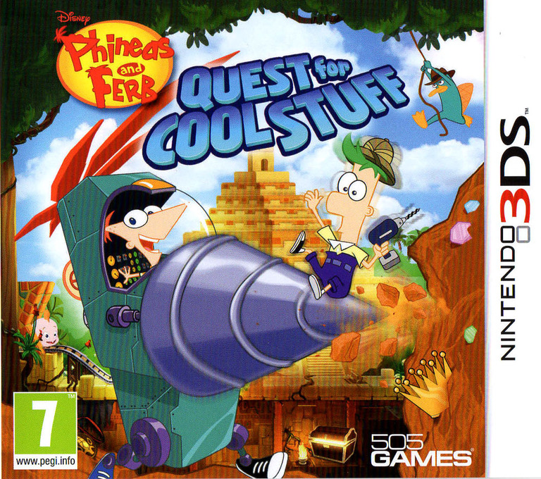 Phineas and Ferb - Quest for Cool Stuff 3DS coverHQ (AAWP)