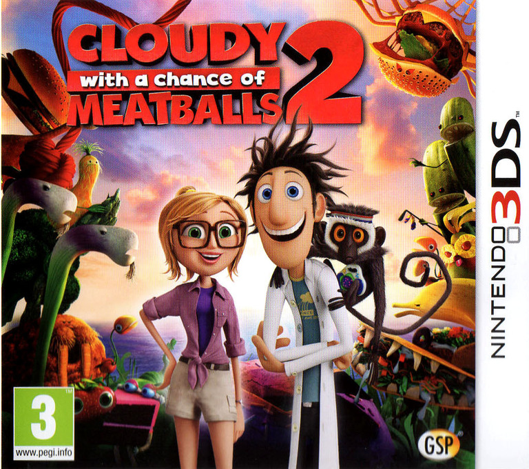 Cloudy with a Chance of Meatballs 2 3DS coverHQ (AD5P)