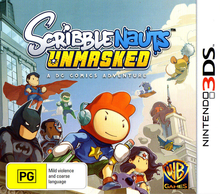 Scribblenauts Unmasked - A DC Comics Adventure 3DS coverHQ (AD6P)