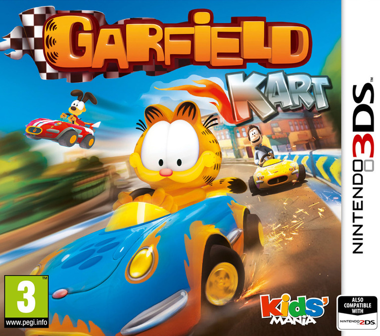 Garfield Kart 3DS coverHQ (AGPP)