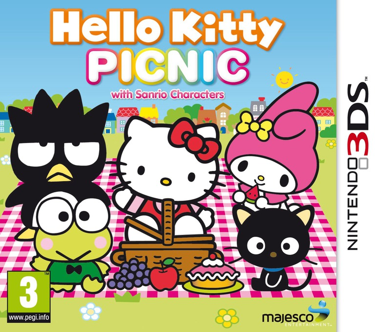 Hello Kitty Picnic with Sanrio Characters 3DS coverHQ (AHLD)