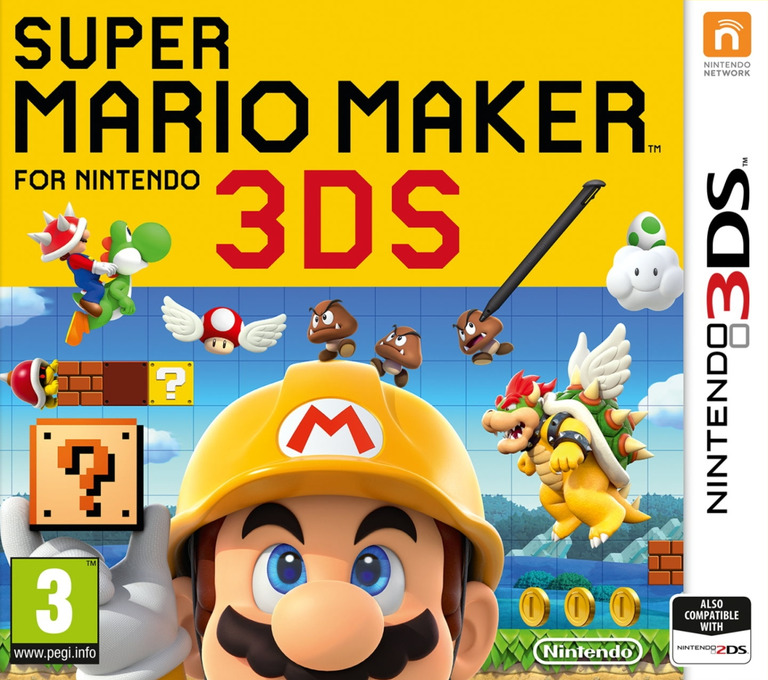 Super Mario Maker for Nintendo 3DS 3DS coverHQ (AJHP)