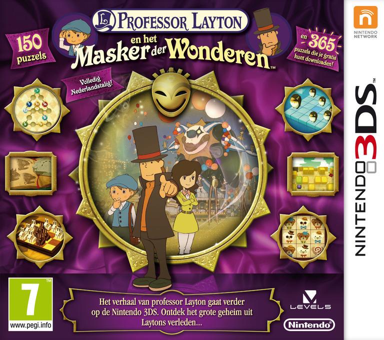 Professor Layton en het Masker der Wonderen 3DS coverHQ (AKKH)