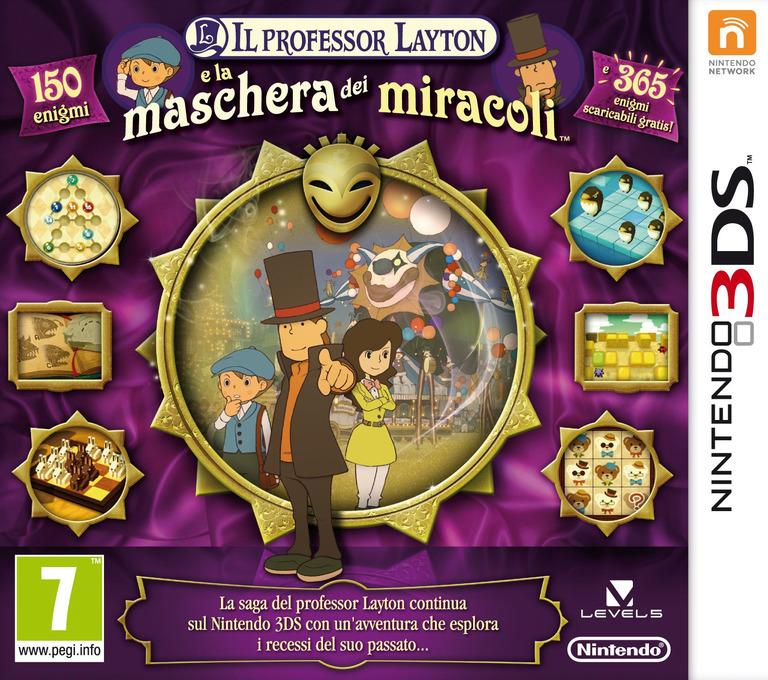 Il Professor Layton e la Maschera dei Miracoli 3DS coverHQ (AKKI)
