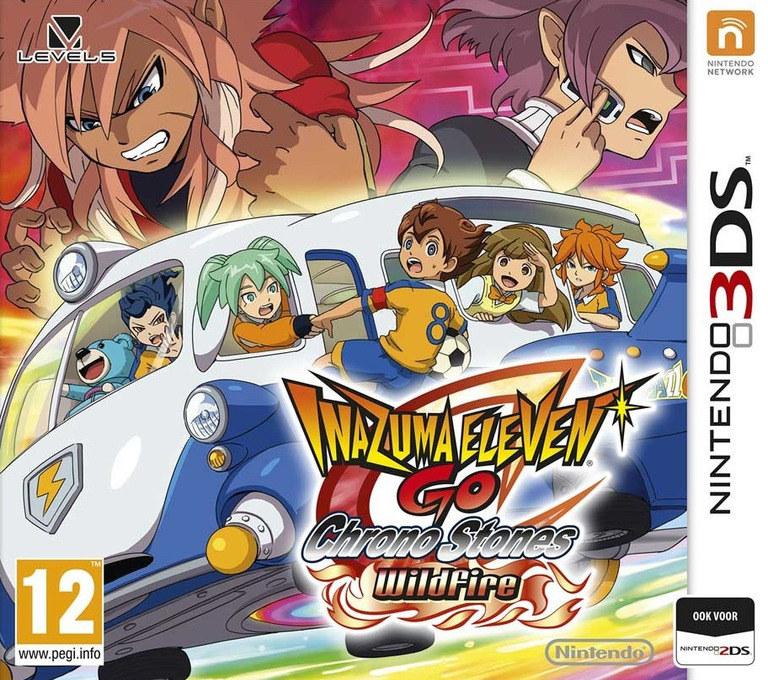Inazuma Eleven GO - Chrono Stones - Wildfire 3DS coverHQ (ANPP)