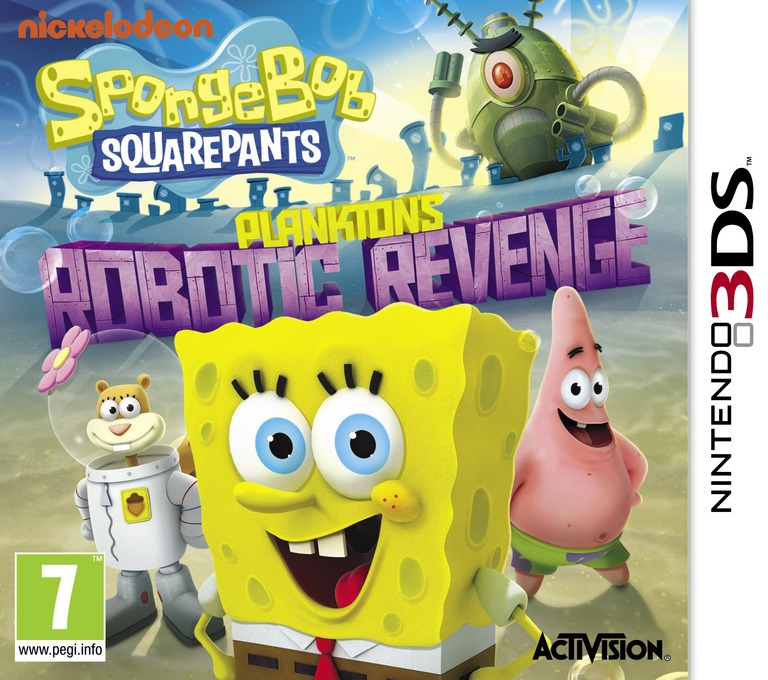 SpongeBob SquarePants - Plankton's Robotic Revenge 3DS coverHQ (ANXP)
