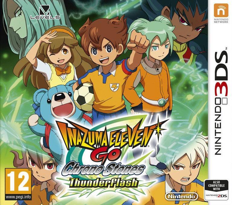 Inazuma Eleven GO - Chrono Stones - Thunderflash 3DS coverHQ (ARAP)