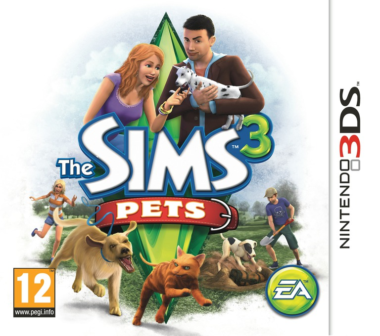 The Sims 3 - Pets 3DS coverHQ (AS4P)