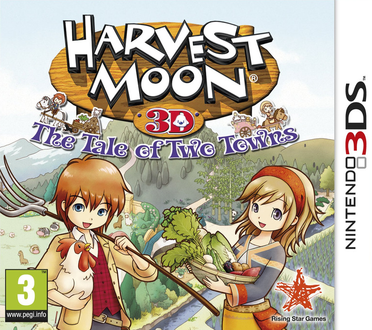 Harvest Moon 3D - The Tale of Two Towns 3DS coverHQ (AT2P)