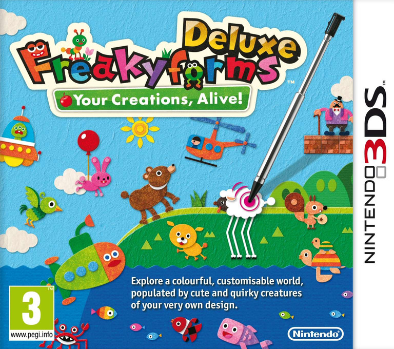 Freakyforms Deluxe - Your Creations, Alive! 3DS coverHQ (ATQP)