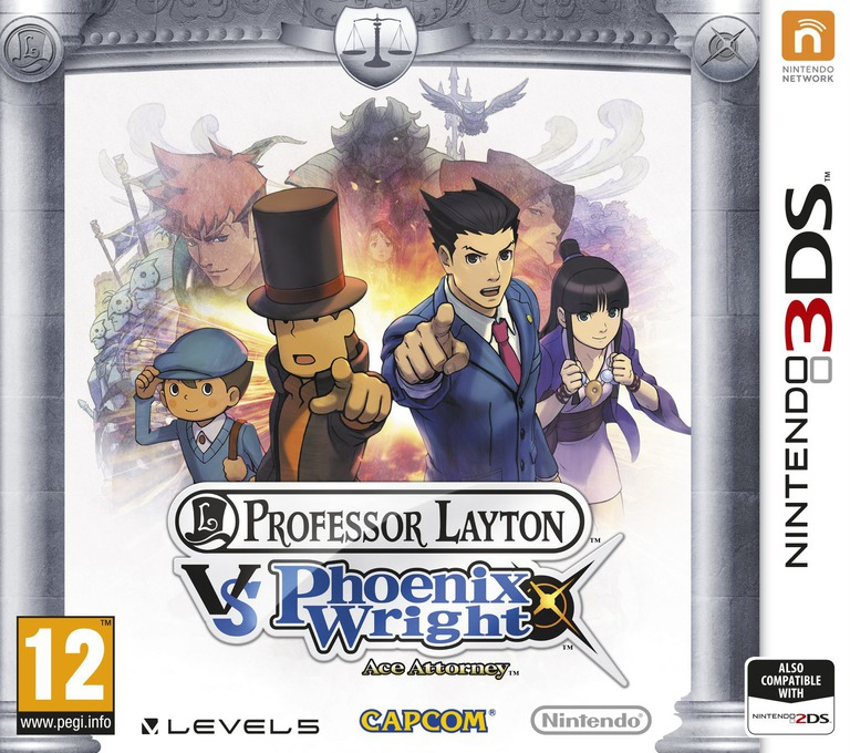 Professor Layton vs. Phoenix Wright - Ace Attorney 3DS coverHQ (AVSZ)