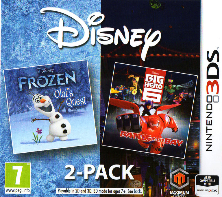 Disney Frozen: Olaf's Quest and Disney Big Hero 6: Battle in the Bay 3DS coverHQ (BF6Z)