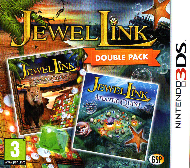 Jewel Link Double Pack - Safari Quest and Atlantic Quest 3DS coverHQ (BJLP)