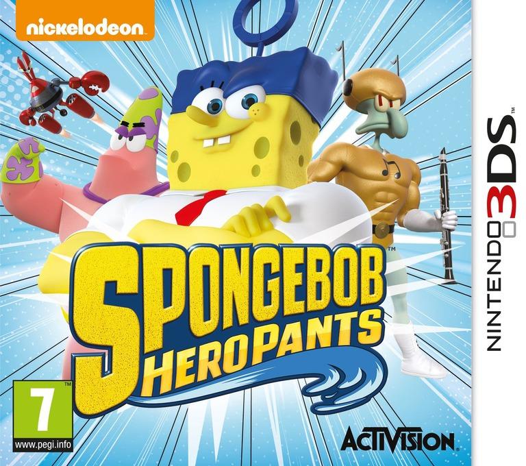 SpongeBob HeroPants 3DS coverHQ (BPNP)
