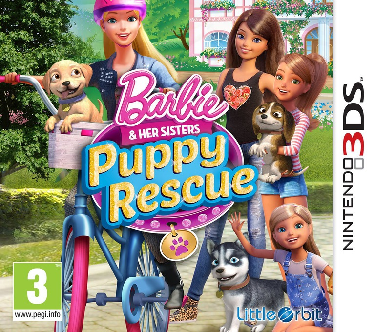 Barbie & Her Sisters - Puppy Rescue 3DS coverHQ (BRQZ)