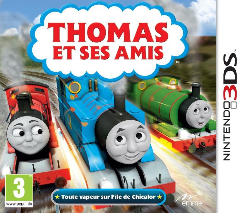 Thomas et Ses Amis - Toute vapeur sur l'île de Chicalor 3DS coverHQ (BTBP)