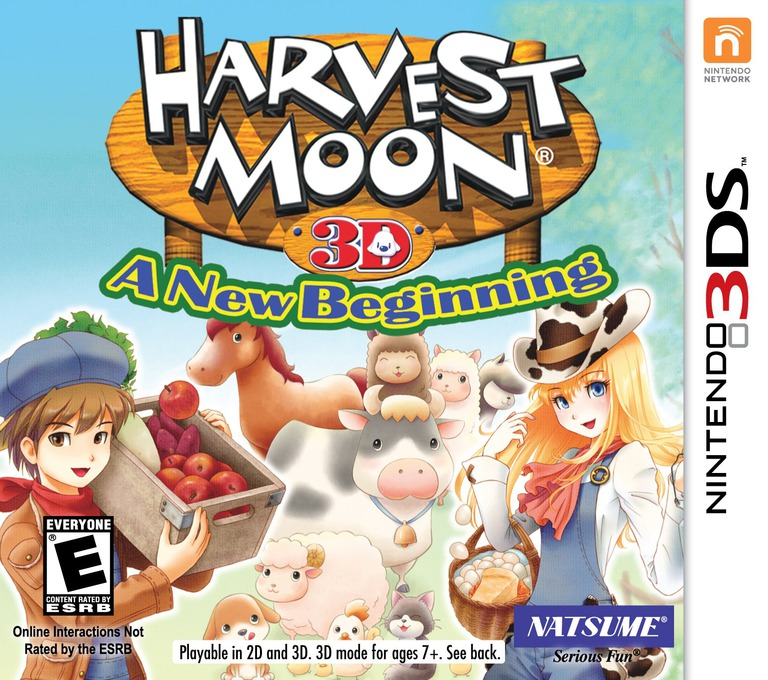 Harvest Moon 3D - A New Beginning 3DS coverHQ (ABQE)