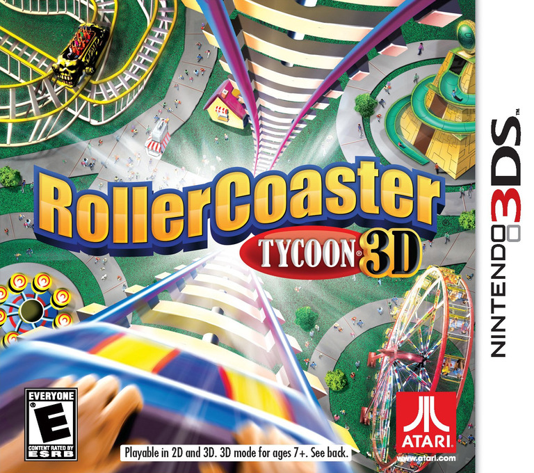 RollerCoaster Tycoon 3D 3DS coverHQ (AC8E)