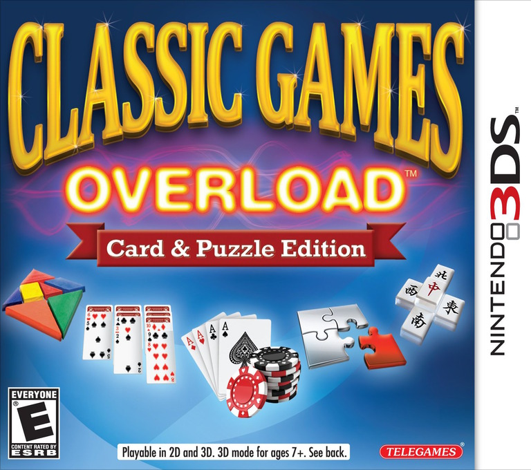 Classic Games Overload - Card & Puzzle Edition 3DS coverHQ (ACGE)