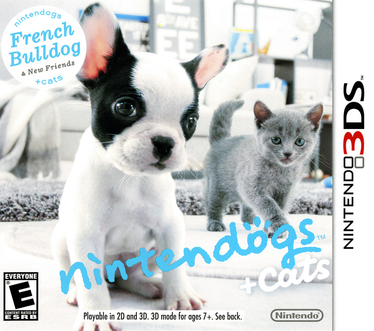 Nintendogs + Cats - French Bulldog & New Friends 3DS coverHQ (ADBE)