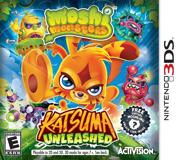Moshi Monsters - Katsuma Unleashed 3DS coverHQ (ADME)