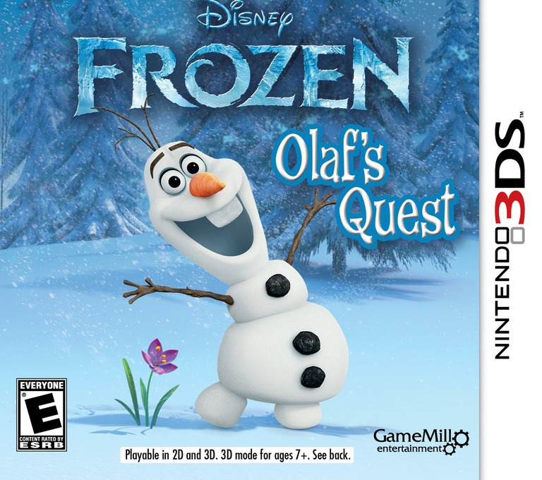 Disney Frozen - Olaf's Quest 3DS coverHQ (AEHE)