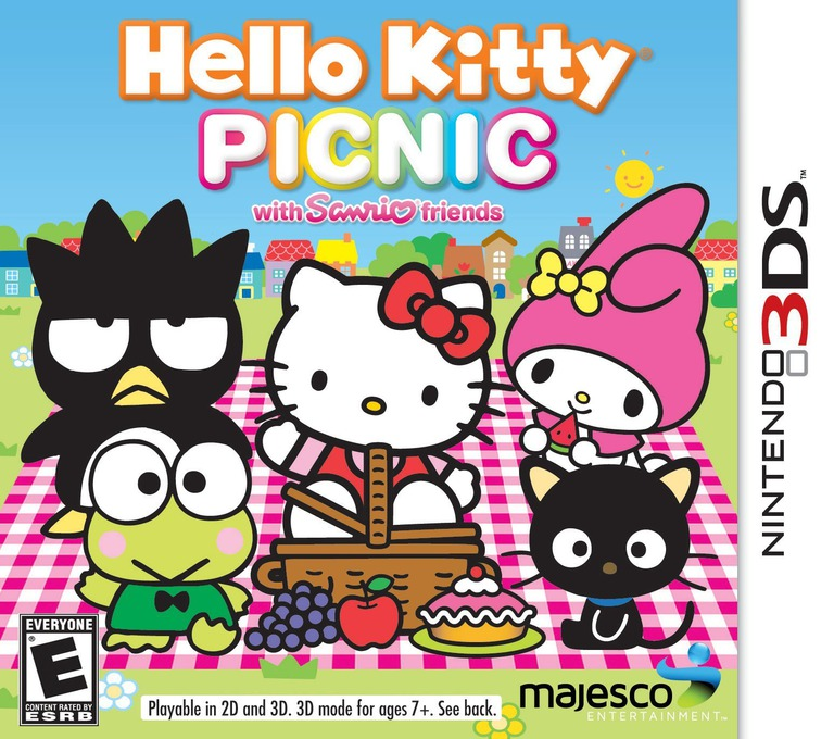 Hello Kitty Picnic with Sanrio Friends 3DS coverHQ (AHLE)
