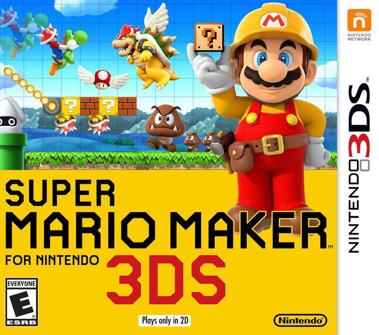 Super Mario Maker for Nintendo 3DS 3DS coverHQ (AJHE)