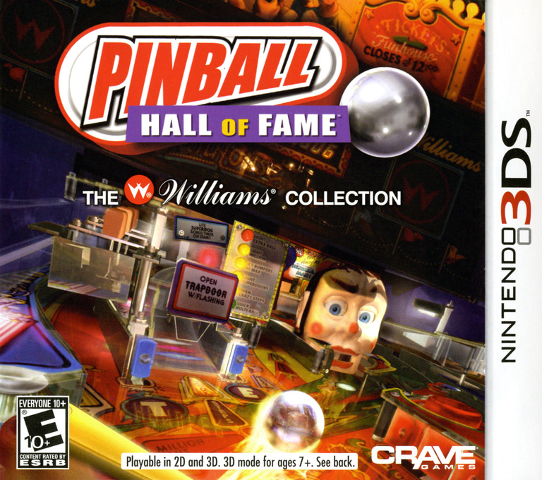 Pinball Hall of Fame - The Williams' Collection 3DS coverHQ (APBE)
