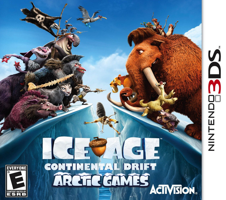 Ice Age - Continental Drift - Arctic Games 3DS coverHQ (AQLE)