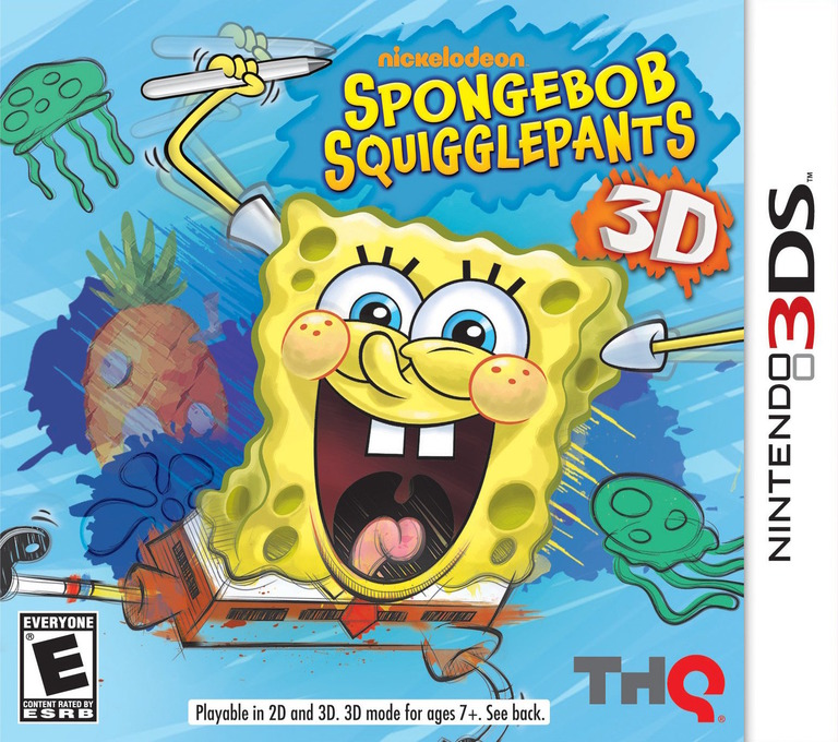 SpongeBob SquigglePants 3D 3DS coverHQ (ASGE)