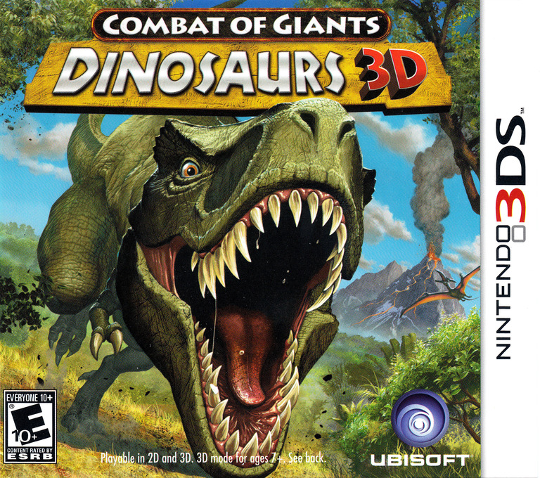 Combat of Giants - Dinosaurs 3D 3DS coverHQ (ATTE)