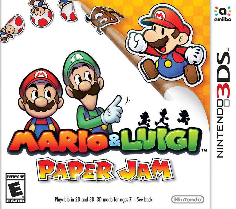 Mario & Luigi - Paper Jam 3DS coverHQ (AYNE)