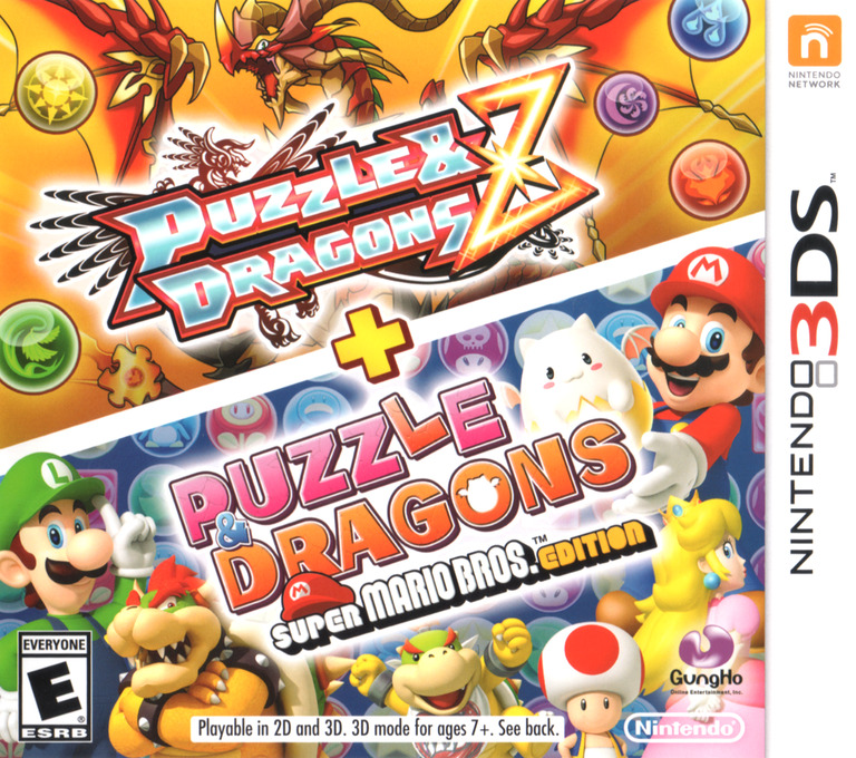 Puzzles & Dragons Z + Puzzles & Dragons Super Mario Bros. Edition 3DS coverHQ (AZGE)