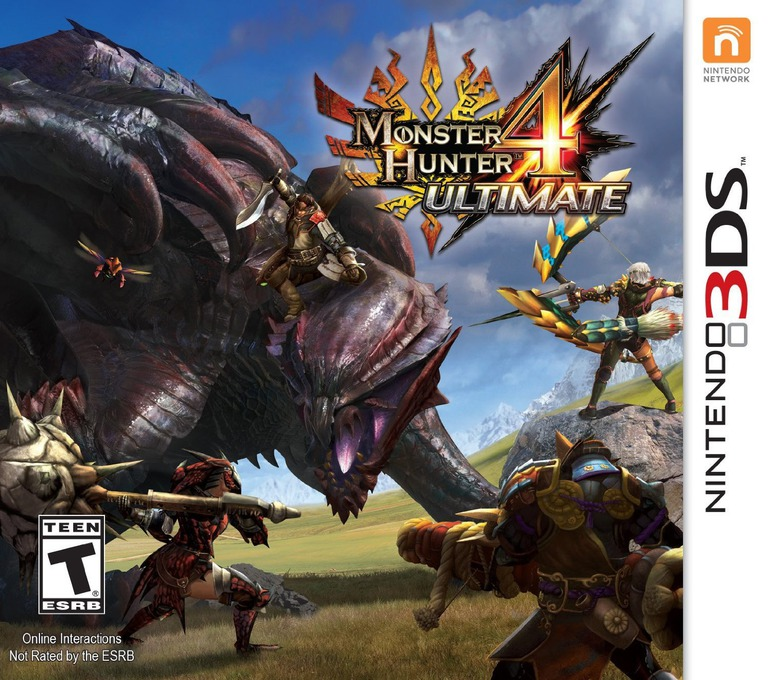 Monster Hunter 4 Ultimate 3DS coverHQ (BFGE)