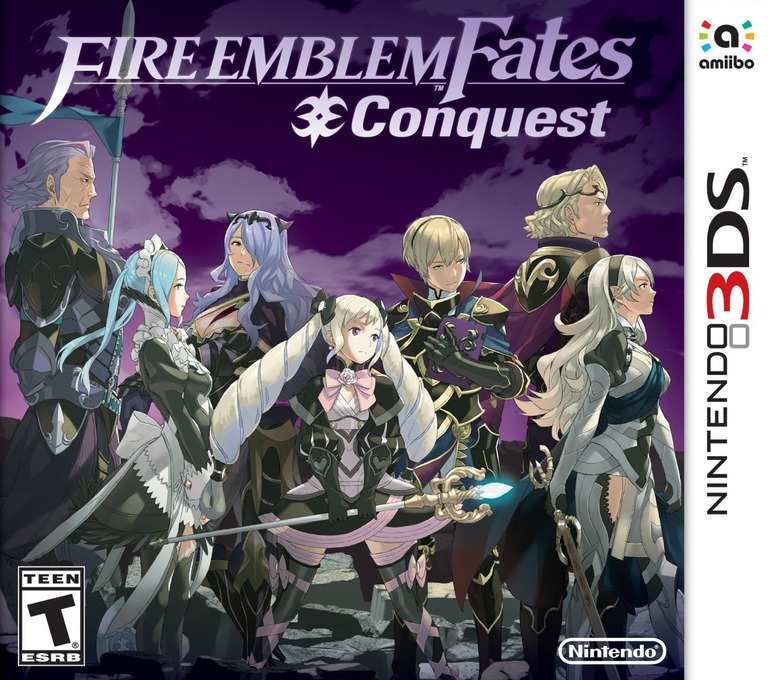 Fire Emblem Fates - Conquest 3DS coverHQ (BFYE)