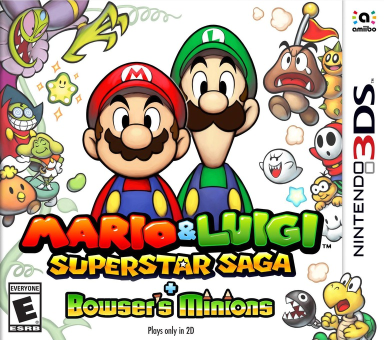 Mario & Luigi: Superstar Saga + Bowser's Minions 3DS coverHQ (BRME)