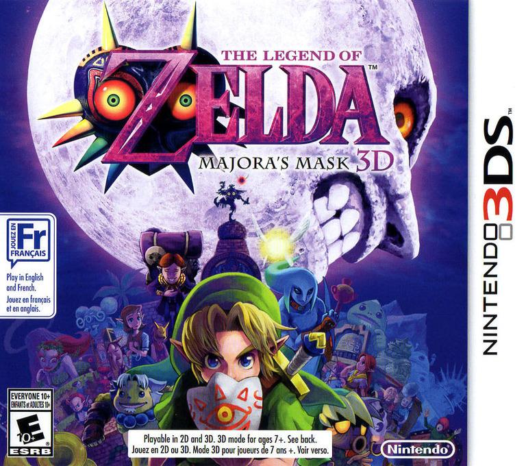 The Legend of Zelda - Majora's Mask 3D 3DS coverHQ (AJRE)